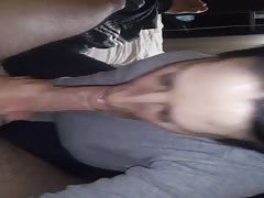 sucking my big dick