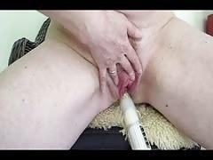 Norwegian mummy , ass-fuck  fake penis , ginger bush, spunking