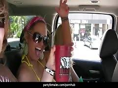 torrid  honeys  Flash boobs In The Car