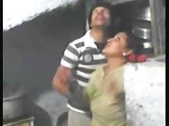 egypt wife with Neighbor playing in tit