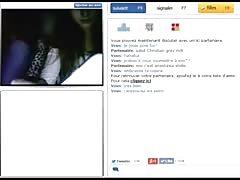 2 French Lesbians Flashing Tits - MoreCamGirls.com