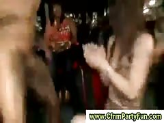 Flashing and cocksucking in cfnm party