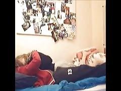 Hidden cam - dark and blondie screwing in bedroom