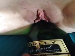 Champaigne bottle put to good use