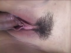 Busty asian gets her wet pink pussy fucked on balconey