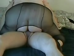 SsBBW foreplay  pantyhose big butt
