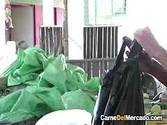 Carne Del Mercado - Hot pickup and fuck with Colombian teen