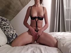 Canadian girl dildoing herself