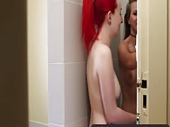 Girls Out West - Slender Aussie lesbian babes insert fingers