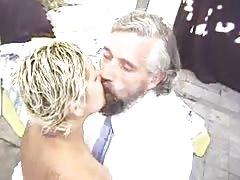 Blonde Latina vs Oldman