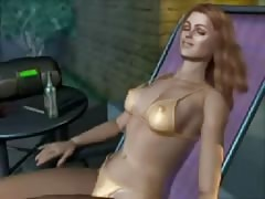 cartoon animation huge-boobed  babe ravaged by sea creature