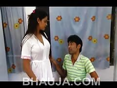 Hot Bhabhi & Young Dewar Romantic Love - Desi Sexy Cleavage  Romance - Bhauja.com
