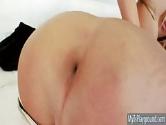 obliging shemale Kimber James ass fucking fucked