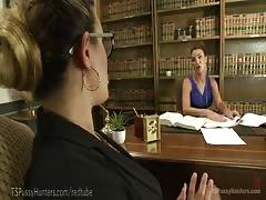 Hot TS Attorney Ass-Fucks Penny Barber