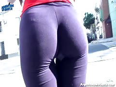 Amazing Ass!, Cameltoe! & Natural Tits! Flashing in Public!