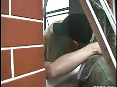 blonde ladyboy gets an butt pounding