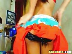 Nice Ass Shemale Cums