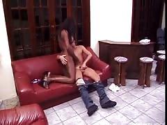 Brazilian TS rimming a white dude