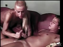 Cute transvestite takes it in the ass