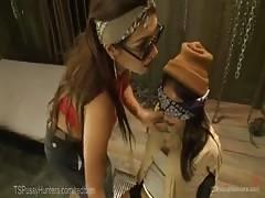 TS Gang Leader Fucks Porn Rookie
