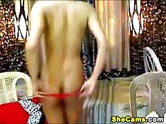 Kinky Shemale Does An Awesome Reverse Cowgirl