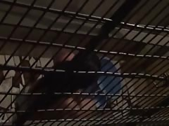 Hot telugu maid girl having bath in her balcony captured
