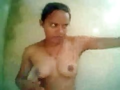 North Indian Girl self filmed her Bathing