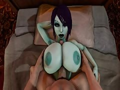 drill Soria's big titties and cum on her face