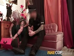 Fake Cop Inked up and fucked deep in the ass
