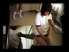 Japanese doctor boobs checkup -3