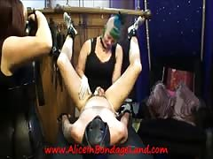 Mistress Alice & FemDom Denali Winter StrapOn Threesome BDSM