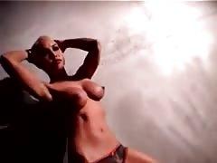 Tattooed Masuimi Max stripping