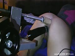 GERMAN SLUT FUCKED BY 2 MACHINES