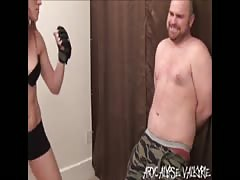 Tall Girl vs Big Guy- Real Female Beatdowns