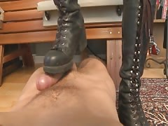 Miss Tee Military Latex Cock Stomping