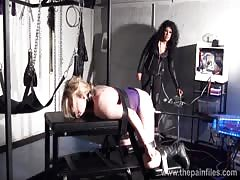 Bizarre lesbian toys domination of suffering Amber West