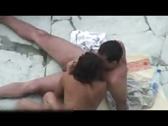 russian couple enjoys at beach part 1 &2