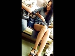 Candid Sexy Babe Long Legs
