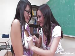 Taylor Vixen and Sophia Jade are naughty schoolgirls