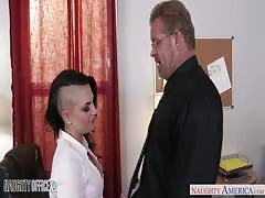 Tattooed office chick Rachel Madori fucking