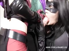 COSPLAY BABES Jokes banging Harley Quinn and Catwoman fuck