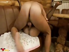Glamorous Russian babe is being screwed in her little hole