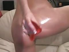 Hottie fucks her ass and masturbates at 1hottie for us