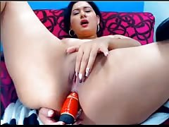Webcam busty live at 1hottie with dildo in ass