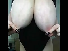 huge breasts playing