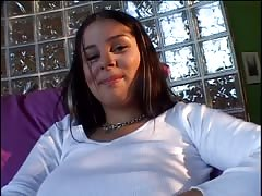sultry  and huge-titted teen gf  is being plowed hard in her tight muff