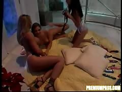 Passionate lesbian sex in the bedroom with a wonderful Jenna Haze