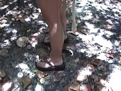 Outdoor pov bj by an all-natural buxom wifey  Renna Ryann