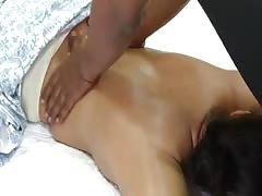 Indian Housewife Massaged in front of Husband -II