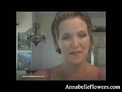 huge-titted fledgling  Annabelle Flowers deep-throat a chisel fancy a pornstar